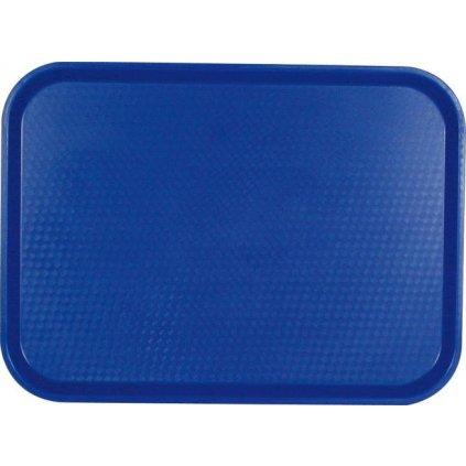 Podnos servírovací vzor modrý Cambro obdélník 41 x 30 cm