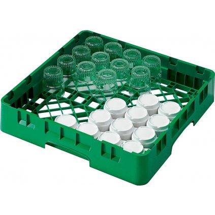 Koš do myčky na hrnky a sklenice plastový zelený Cambro
