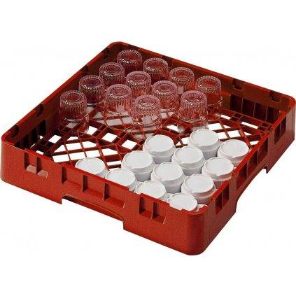 Koš do myčky na hrnky a sklenice plastový červený Cambro