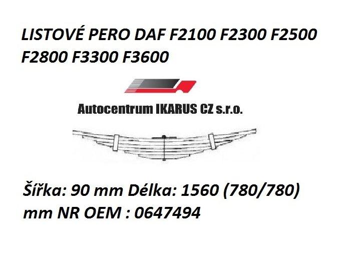 LISTOVÉ PERO DAF F2100 F2300 F2500 F2800