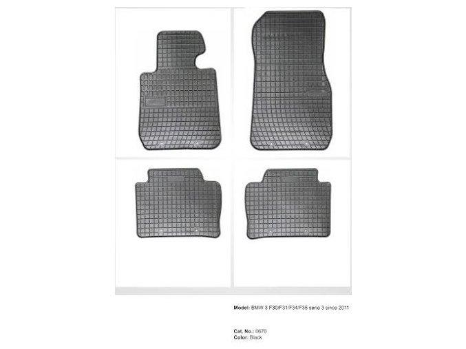 Gumové koberce BMW F30/F31/F34/F35 series 3 ( 2011 - )