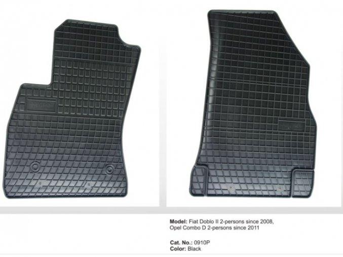 Gumové autokoberce FIAT Doblo II 2-místný ( 2008 - )