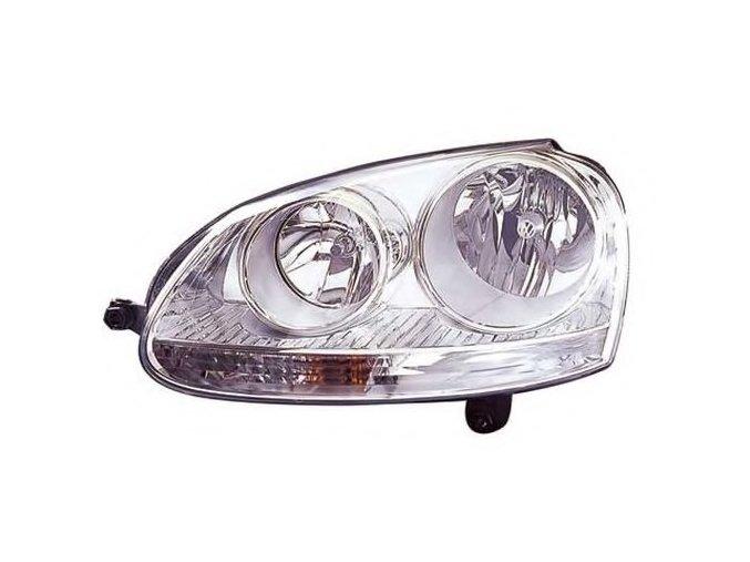 Světlomet levý přední VW GOLF V (1K1) H7/H7 s blikačem, aut ovl, s motorkem chrom