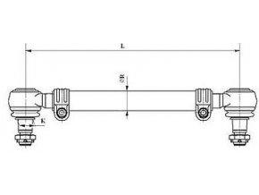 Tyč spojovací 1698mm DAF
