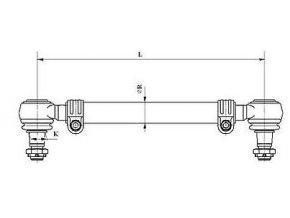 Tyč spojovací 1680mm MAN