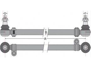 Tyč řízení 858mm MERCEDES