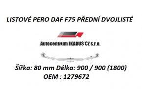 LISTOVÉ PERO DAF F75 PŘEDNÍ DVOJLISTÉ