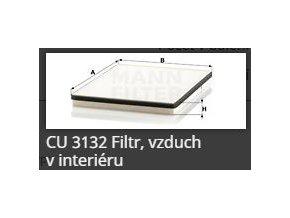 Kabinový filtr CU 3132 MANN FILTER