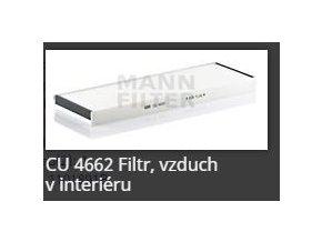 Kabinový filtr CU4662 MANN FILTER