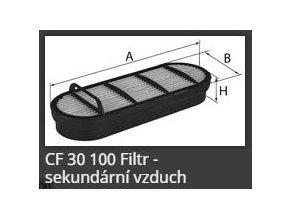 Vzduchový filtr CF30100 MANN FILTER JOHN DEERE