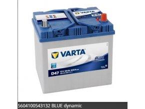 Baterie VARTA 60AH/540A P+ / D47 - BLUE DYNAMIC startovací baterie