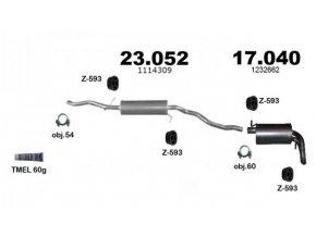 Výfuk FORD GALAXY, SEAT ALHAMBRA, VW SHARAN, 1.9TDi, 2000-2006 sada/kompletní