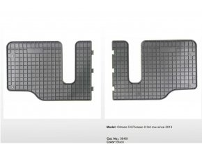 Gumové autokoberce CITROEN C4 Picasso II 3rd row ( 2013 -    )