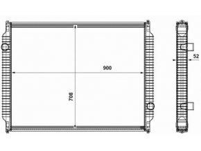 Chladič vody K954-6, Crossway 5006009384