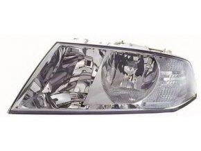 Světlomet Škoda Octavia Levý H7/H1 aut ovl, s motorkem, černý rámeček 1Z1941017P, 1Z1941017C
