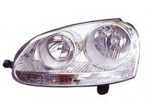 Světlomet pravý přední VW GOLF V (1K1) H7/H7 s blikačem, aut ovl, s motorkem chrom