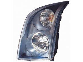 Světlomet levý VW CRAFTER 30-35 autobus H7/H7, černý rámeček, aut/man ovl.