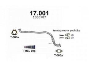 Výfuk FORD TRANSIT / TOURNEO 2,5D, přední trubka s příslušenstvím