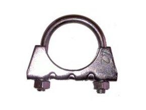 OBJÍMKA výfuku 65 M8  objímka na trubku o průměru 65mm, materiál: pozink Fe, matice č.13
