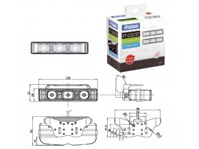 LED denní svícení sada 2ks 12/24V