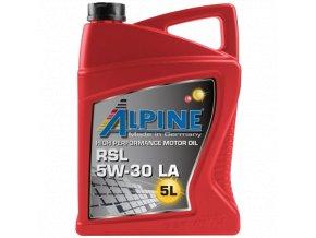 alpine rsl 5w 30 la 5l motorovy synteticky olej