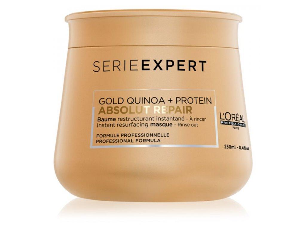 loreal professionnel serie expert absolut repair gold quinoa protein intenzivni regeneracni maska pro velmi poskozene vlasy