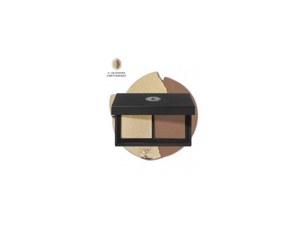 SOTHYS - Duo paleta očních stínů 10 or vénitien & brun baroque