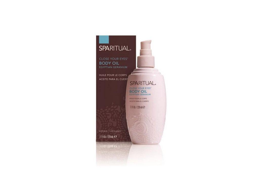 SpaRitual - Masážní olej z Pelargonie 228ml