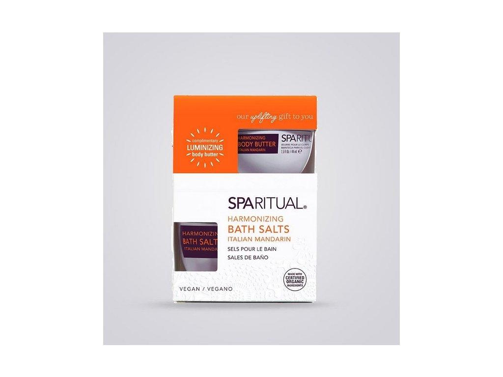 SpaRitual Harmonizující koupelová sůl a tělová máslo Italská Mandarinka KIT