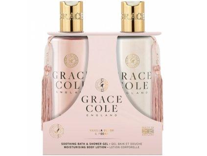 51437 15995 grace cole sprchovy gel hydratacni telove mleko vanilla blush peony 2x300ml