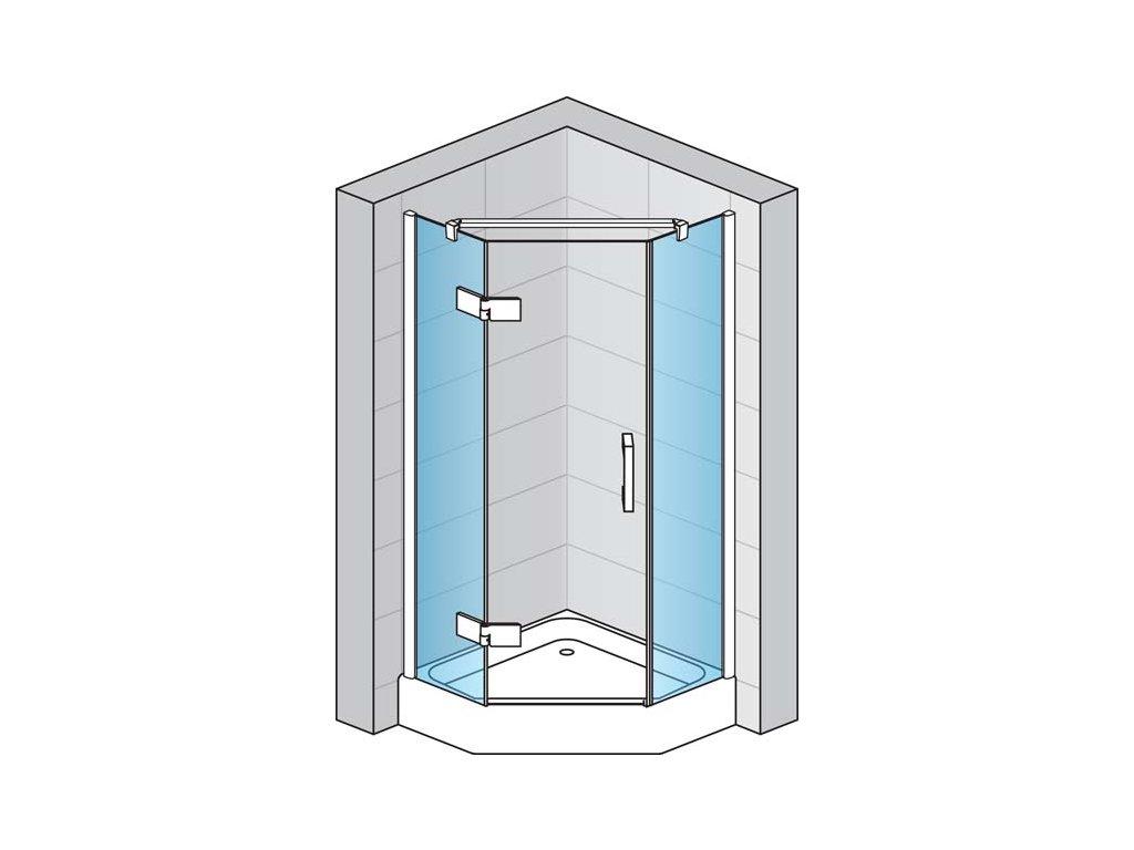 Boční stěna pro pětiúhelník s vyrovnávacím profilem