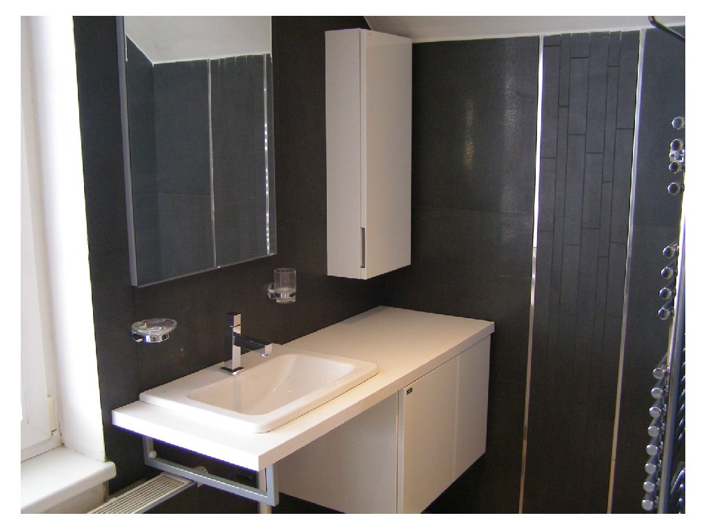 Koupelnový set umyvadlo Jika Cubito+skříňka+zrcadlo
