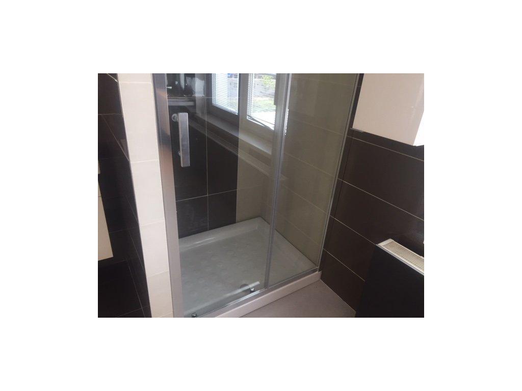 Sprchové dveře posuvné Cubito Pure +vanička+hlavová sprcha