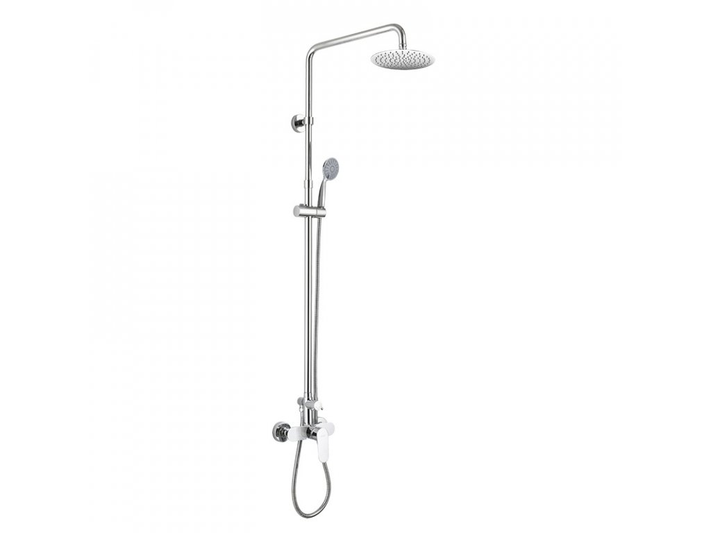 Sprchový set: baterie se sprch. soupravou, hadicí, ruční a talířovou kulatou sprchou