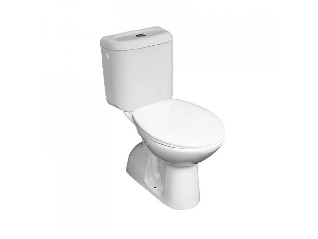 WC kombi, spodní odpad s armaturou