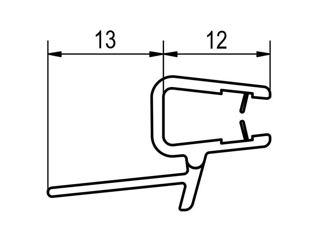Oblouk. těsnění pro P3G a P3PG s R 550 mm