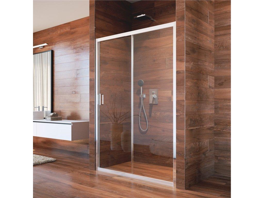 Sprchové dveře, LIMA, dvoudílné, zasunovací, chrom ALU