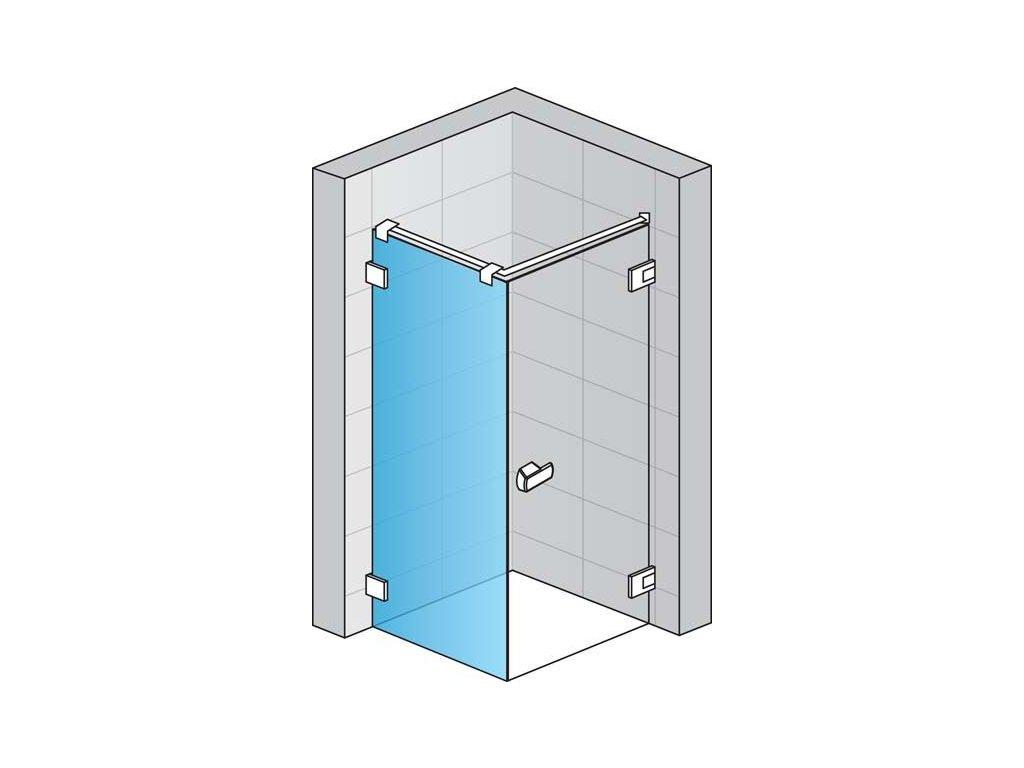 Boční stěna s L-kováním (pro montáž v 90° na straně magnetického těsnění)
