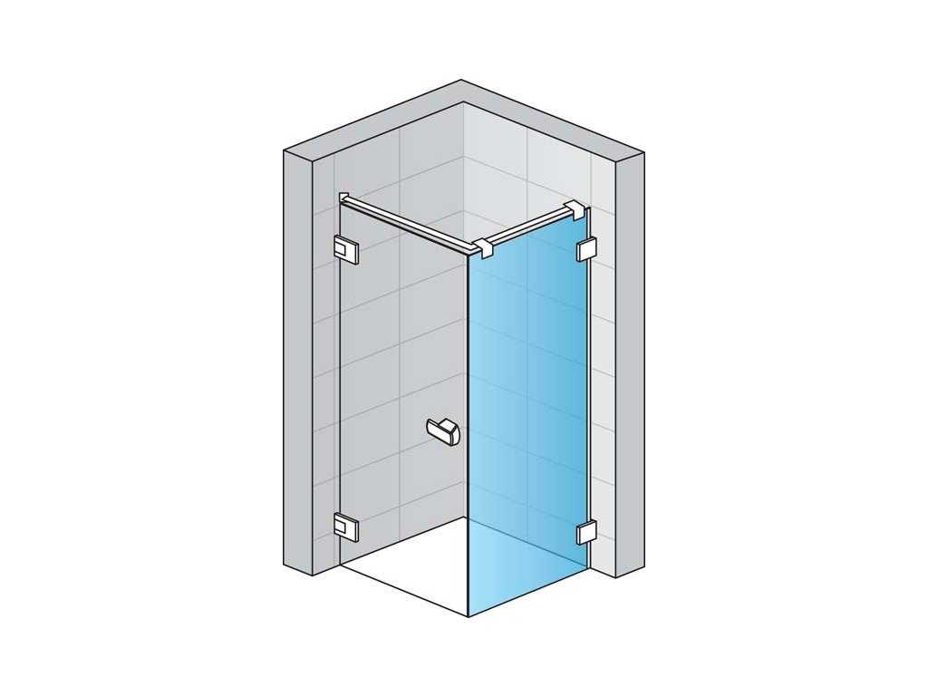 Boční stěna s L-kováním s vyrovnávacím profilem (pro montáž v 90° na straně magnetického těsnění)