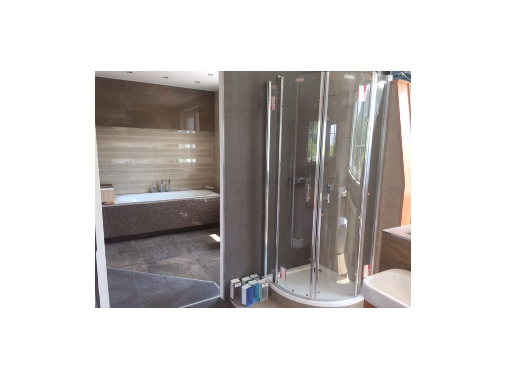 sprchová zástěna + vanička 80x80x200
