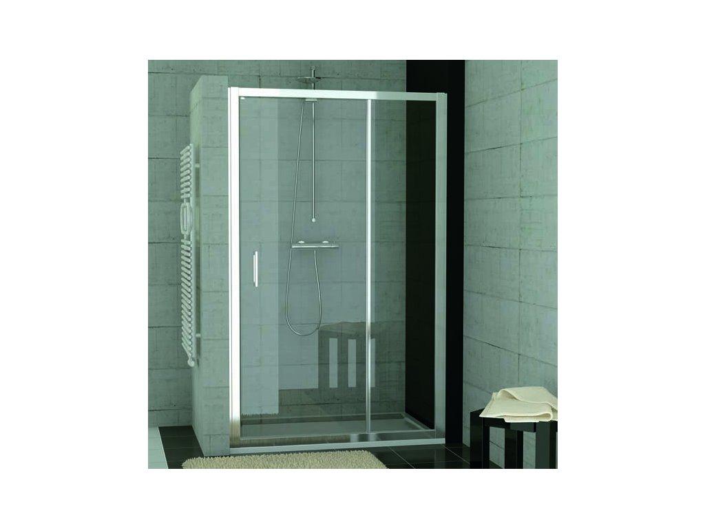 Jednokřídlé dveře s pevnou stěnou v rovině