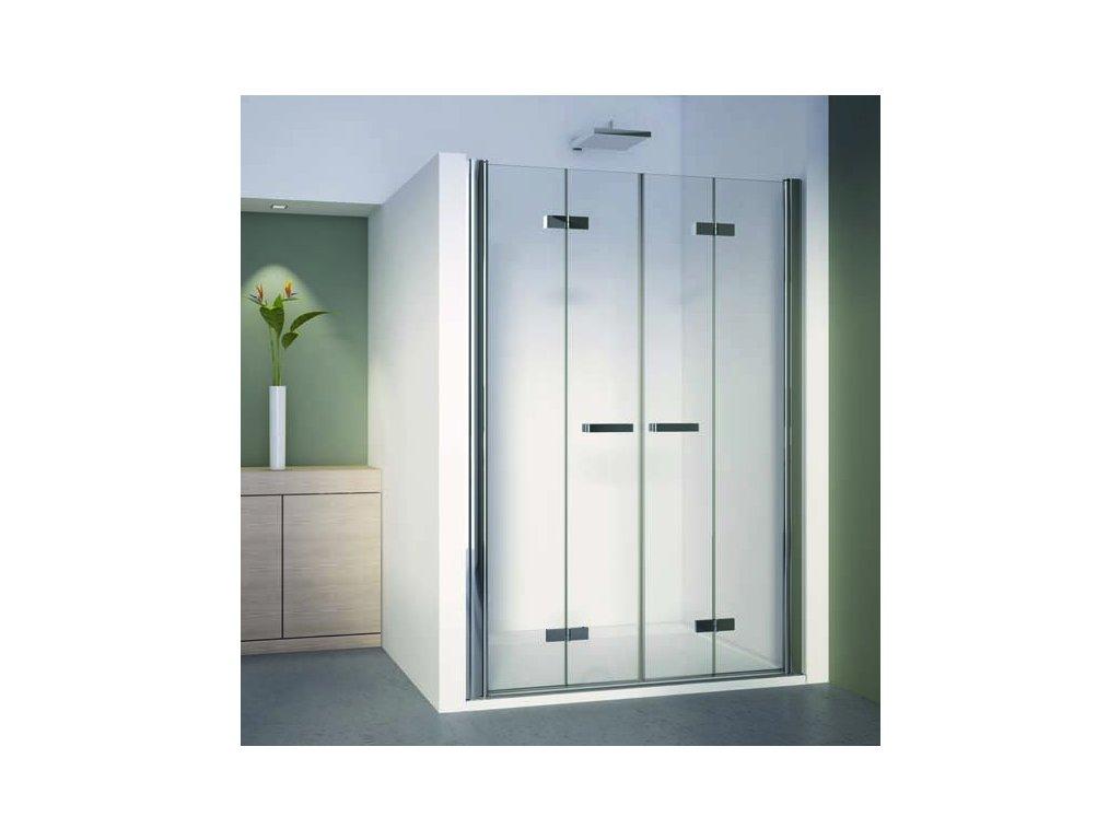 2 dvoudílné skládací dveře v rovině
