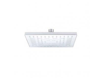 Talířová sprcha horní 220x220 mm s kloubem, pochromovaný plast