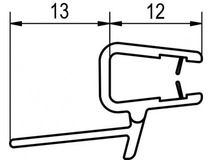 Oblouk. těsnění pro P3G a P3PG s R 500 mm