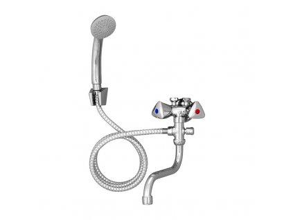 Baterie kombinovaná dvouručková se sprchou pro nízkotl. ohřívače, ramínko, sprcha, sprchová hadice