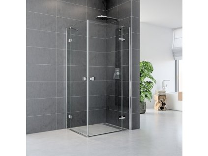 Sprchový kout, Fantasy, čtverec, chrom ALU, sklo Čiré
