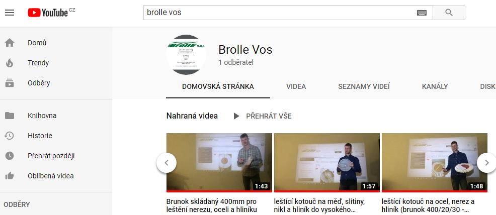 Youtube Brolle vos officiální kanál