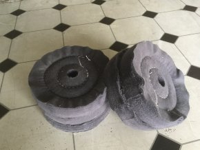 polishing wheels flanel 150mm centre hole 8mm