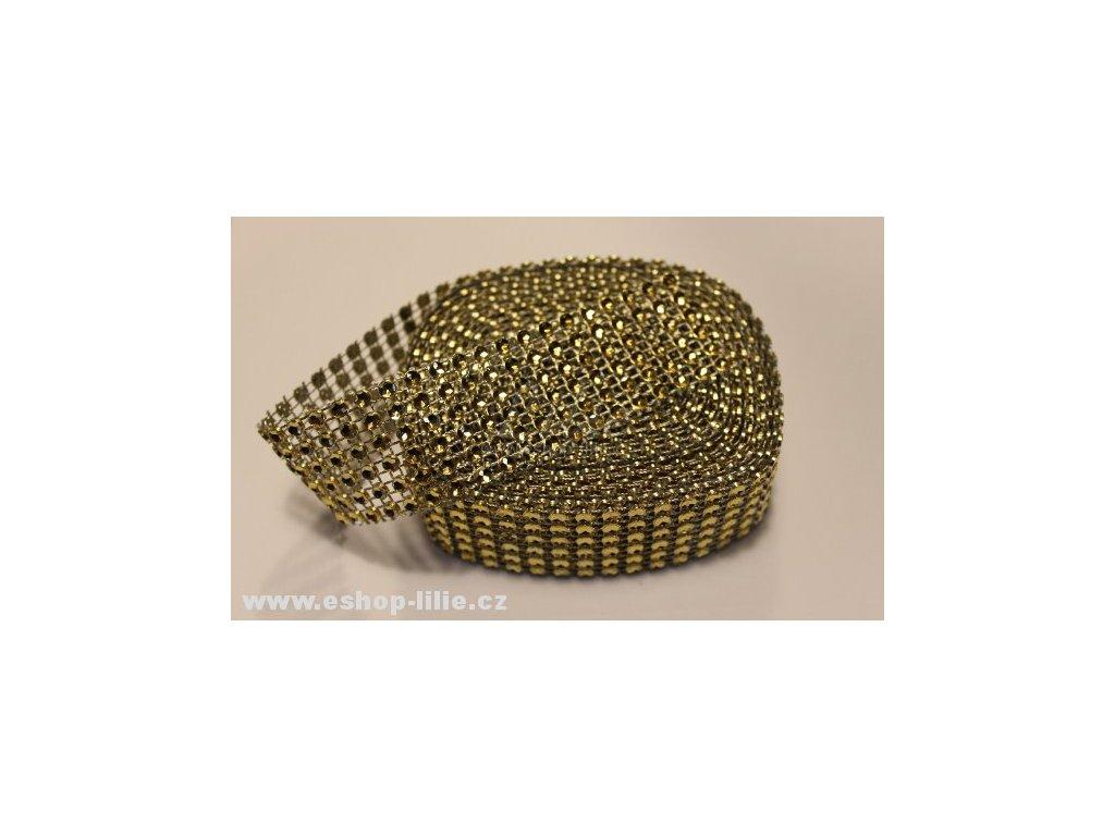 Zlatý diamantový pás kolem dortu 5127