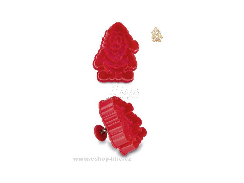 Santa Claus plastový vypichovač 170674